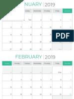 Calendar Planner 2019