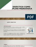 Didactica Como Disciplina Pedagogica