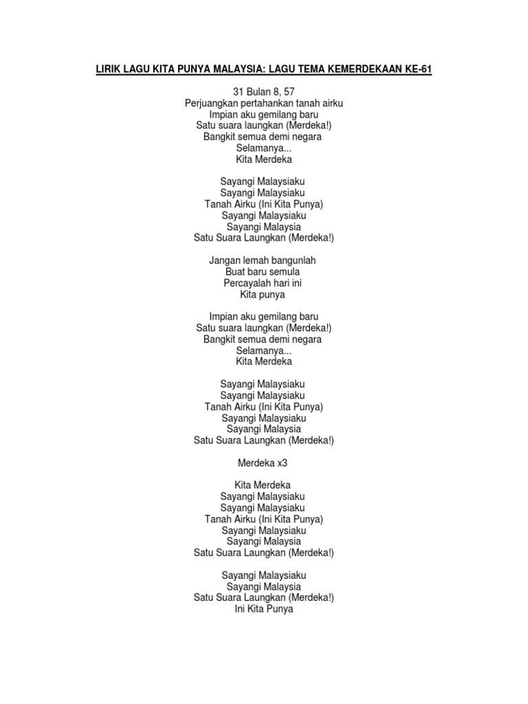 Lirik Lagu Kita Punya