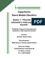 La filosofía de la educación y meta cognición docente