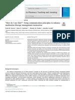 Communication in Drug Development