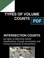 Transportation Engineering - Volume Counts