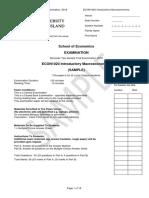 ECON1020 S2 2018 Samplefinalsemester Exam