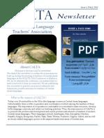 CALTA Newsletter Issue 1