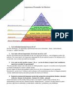 Interpretarea Piramidei Lui Maslow