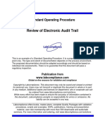 SOP for Audit Trail Reveiw