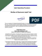 SOP for Audit Trail Reveiw