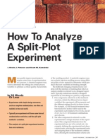Analyze Split Plot Experiment