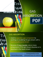 Gas Absorption and Adsorption