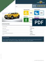 Euroncap 2016 Audi q2 Datasheet