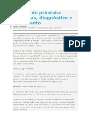 test del carcinoma prostatico nhs