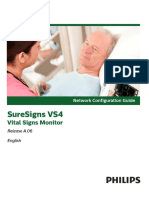 SureSigns VS4 Monitor Network Configuration Guide Release a.06
