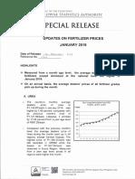 Updates on Fertilizer Prices, January 2019