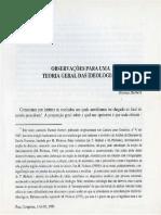 Thomas Herbert. Observações Para Uma Teoria Geral Das Ideologias (2)