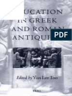 TOO, Yun Lee. Education in Greek and Roman Antiquity - o cap 1 parece bom pra nós.pdf