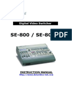 DATA VIDEO SE 800 MANUAL