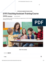 EYFS Teaching Assistant Training Course - Janets