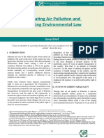 Regulating Air Pollution and Enforcing Environmental Law'