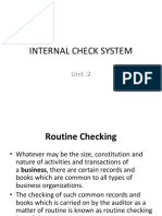 Unit 2 Internal Check System