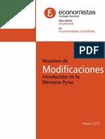 RESUMEN DE MODIFICACIONES A LA MEMORIA PYME 2017.doc