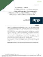Sociedades Civiles Con Personalidad Jurídica y Objeto Mercantil. Régimen Jurídico_RCyT 398-Mayo 2016