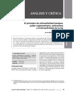El Principio de Retroactividad Benigna en El Derecho Sancionador - Autor José María Pacori Cari