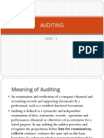 Auditing Unit 1
