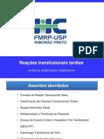 Reações transfusionais tardias -  USP