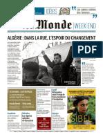 Journal LE MONDE Et Suppl Du Samedi 2 Mars 2019