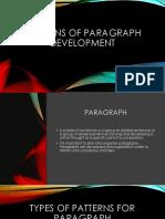 Patterns of Paragraph Development