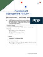 professional assessment activity 1 worksheet 1