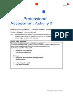 professional assessment activity 2 worksheet 2