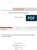 optimization using Lagrange multiplier