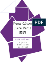 Programmation France Culture au Salon Livre Paris 2019