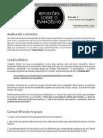 Reflexoes Sobre o Evangelho Estudo 1 PDF
