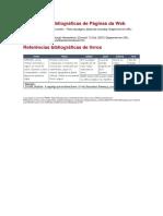 Referências bibliográficas de Páginas da Web