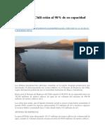 1 Represas Del Chili Están Al 98 Per Cent de Su Cap Total