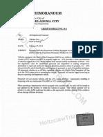 Daniel Holtzclaw - OCPD Chief Bill City - Chief's Directive 14-1 - New AVL, MDC, Radio Policy - 2014-02-27