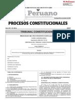PROCESOS CONSTITUCIONALES  EL PERUANO  FONAVISTAS