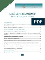 Lettre de veille CND Maraacid Education et formation Avril - Juin 2015.pdf