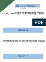 Práctica de Lectura Génesis