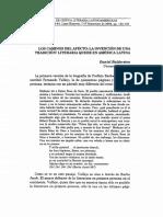 Los Caminos Del Afecto, La Invención de Una Tradición Literaria Queer en América Latina, D. B.