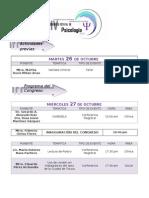 Programa IV Congreso Estatal de Psicología