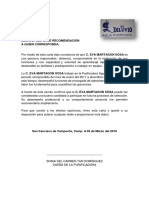 Carta de Recomendación EMS