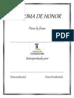 Diploma de Honor Frase