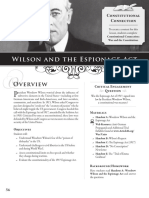 Wilson and the Espionage Act