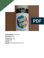 Touch n tone pintura spray