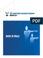 13th ISSF Workshop 2015 - 23 - Music in Finals
