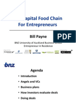 The Capital Food Chain for Entrepeneurs - University of Auckland Presentation