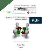 Distribución de Conocimientos anual de matematica primaria